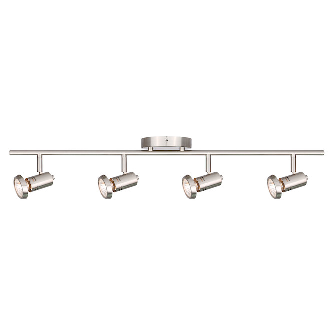 """Rene"" 4-Light Track Light - 50 W - Brushed Nickel"