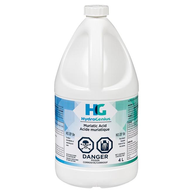 Acide muriatique, 4 litres