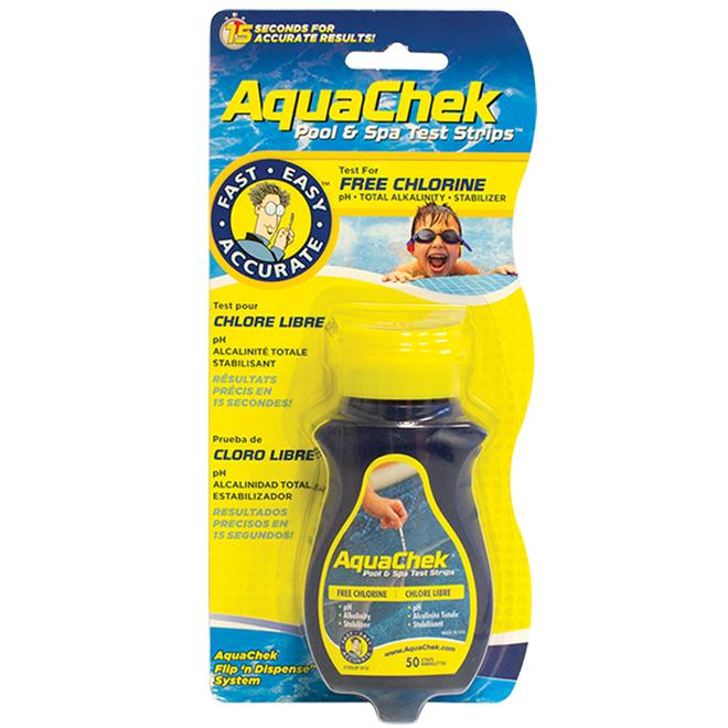 4-Way Pool Water Strip Tests - 50 Pack