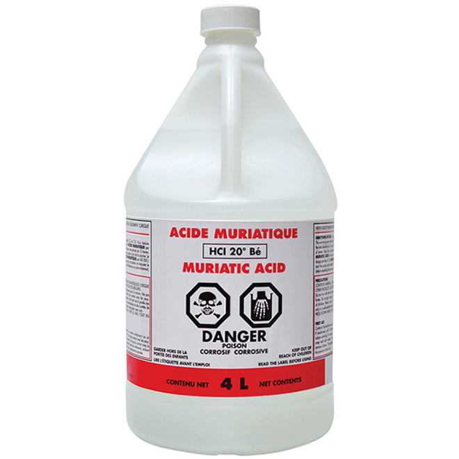 Azur Muriatic Acid for Pools - 4 L