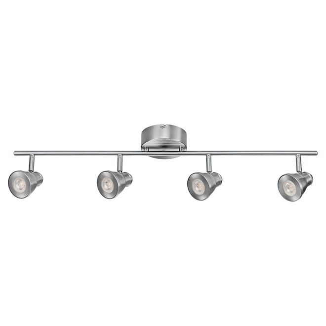 led 4 light track light 29 3 4 brushed nickel rona