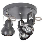 Lawrence Grey 3-Light Ceiling Light - 50 W