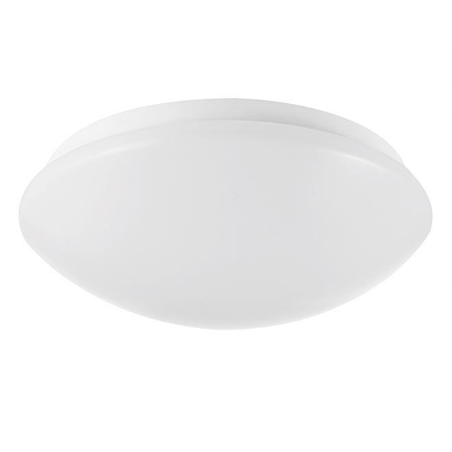 "Plafonnier affleurant à DEL, rond, 15 W, 10"", blanc"
