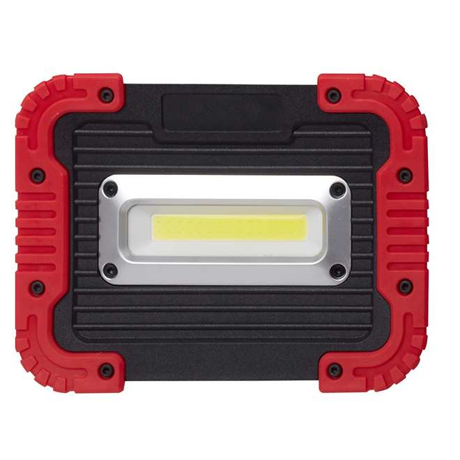 LED Work Lamp - 10 W - 450 Lumens - Black and Red