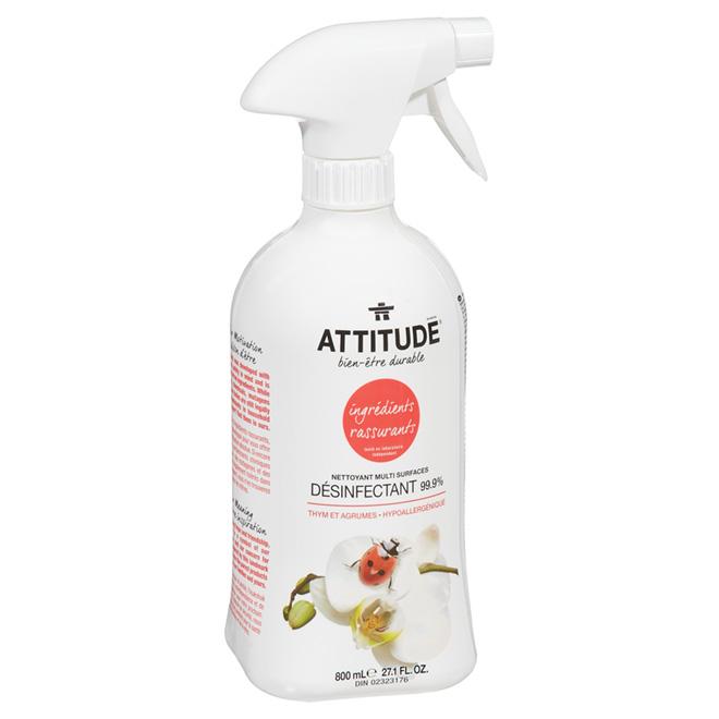 Nettoyant désinfectant multi surfaces Attitude, 800 ml