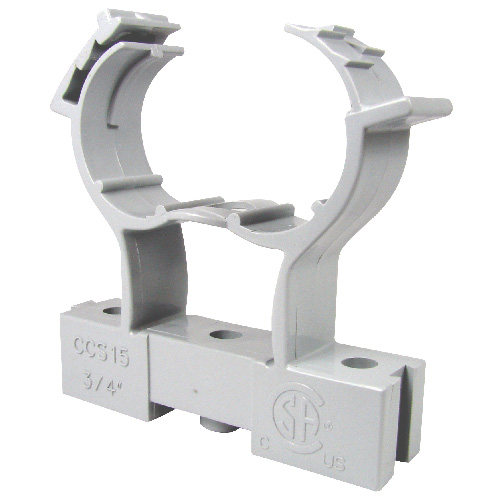 """Conduit Clamp and Spacer - PVC - 1/2"""""""