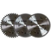 "Set of Mitre Saw Blades - 10"" - Carbide - 3/PK"