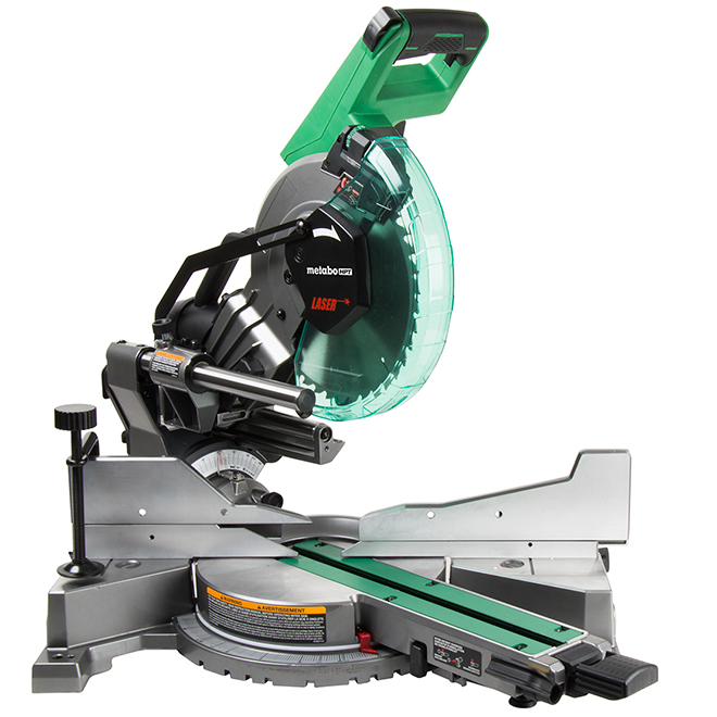 "Compound Dual Bevel Mitre Saw with Laser - 10"" - 3800 RPM"