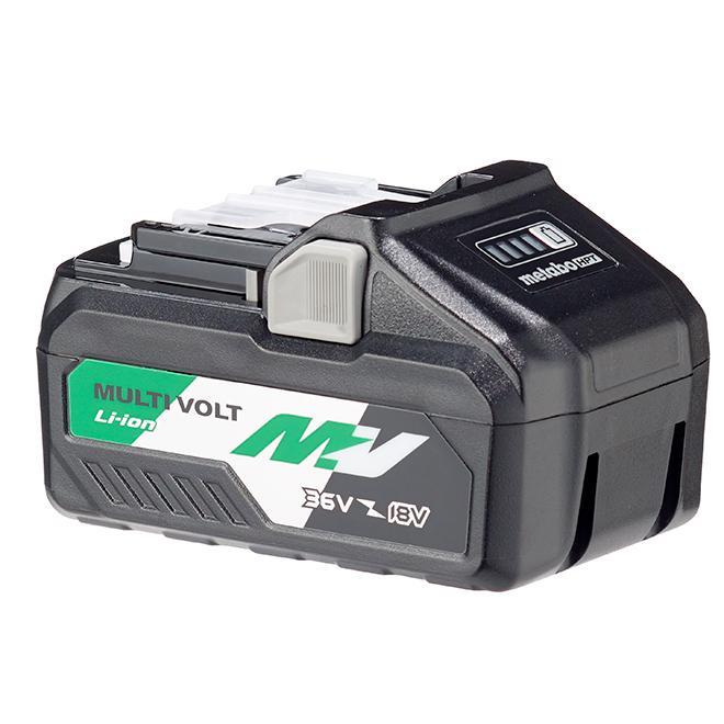 Batterie lithium-ion Metabo HPT MultiVolt 36 V 4Ah, indicateur de charge à 4 niveaux, port USB