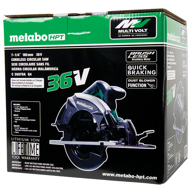"Metabo HPT MultiVolt Cordless Circular Saw - 7 1/4"" - 36 V"