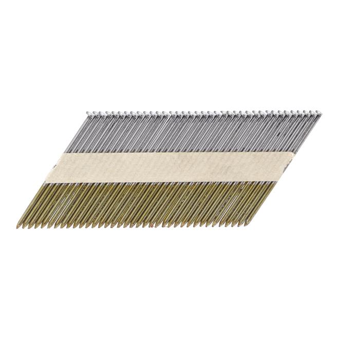 Framing Steel Nail Strip - 3 1/4'' - Bright - 2500/Box