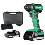 Metabo HPT 18 V 1/4-in Brushless Impact Driver with Batteries and Charger