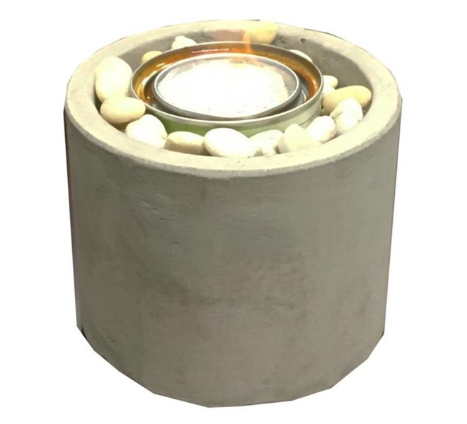 Paramount Garden Burner - Gel Burning - 6.3-in - Clay - Concrete Colour