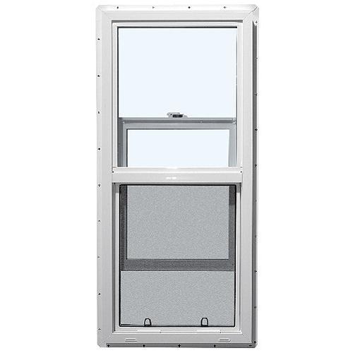 fen tre guillotine simple en pvc blanc rona. Black Bedroom Furniture Sets. Home Design Ideas