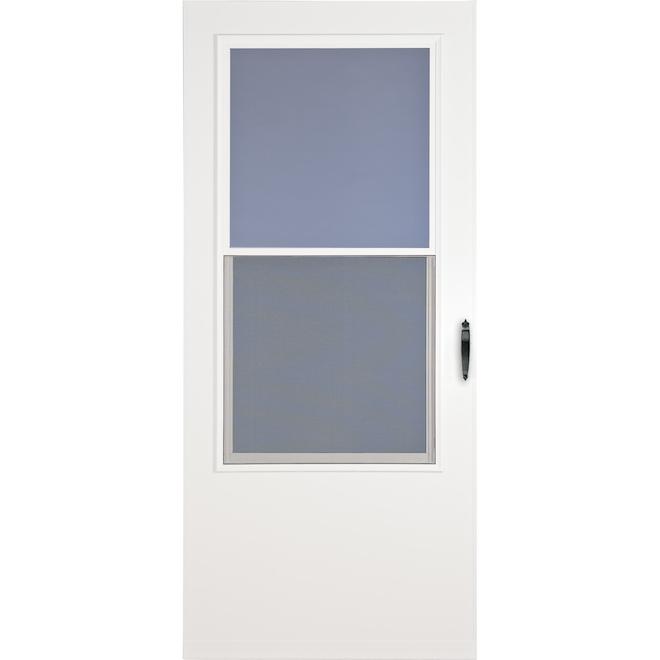 Contre-porte Bismark en bois, 33 po x 81 po, blanc