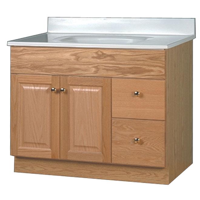 meuble lavabo 2 portes 2 tiroirs bowen ch ne rona. Black Bedroom Furniture Sets. Home Design Ideas