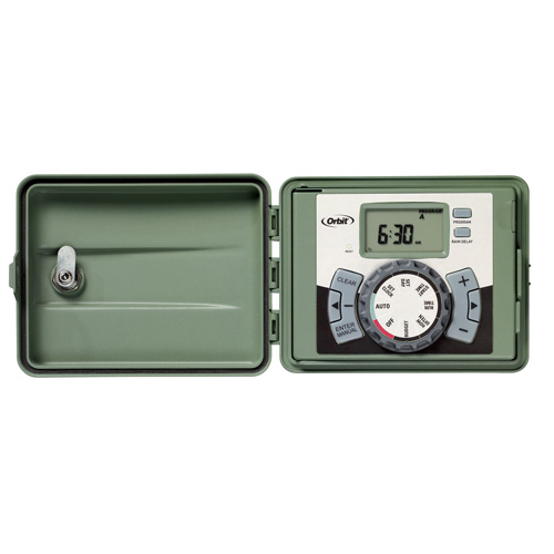 Timer - 12-Station Outdoor Swing-Panel Irrigation Timer