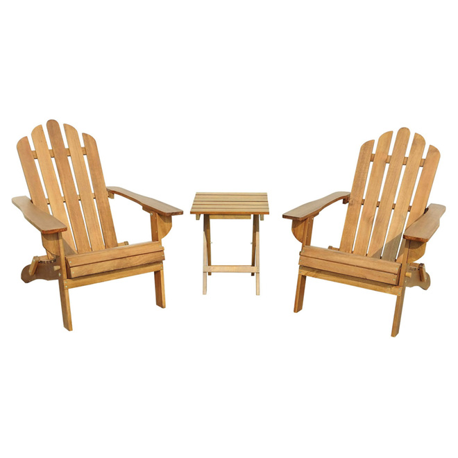 Adirondack Pine Chairs and Table-Natural -3 Pieces  sc 1 st  Rona.ca & Adirondack Pine Chairs and Table-Natural -3 Pieces | RONA