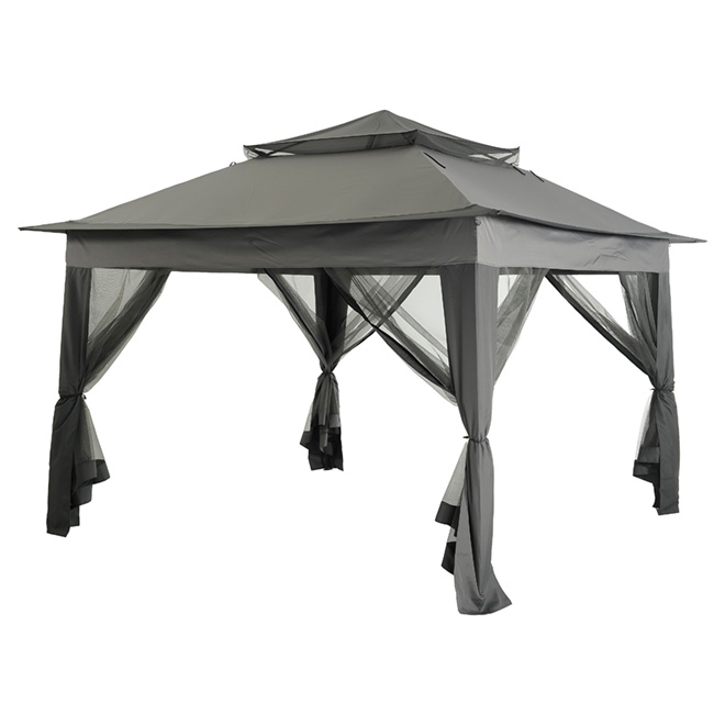 best service efc2e 150de Pop-Up Sun Shelter - 10' x 10' - Black/Grey