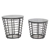Patio Table Set - Bombay - Black - 2 Pieces