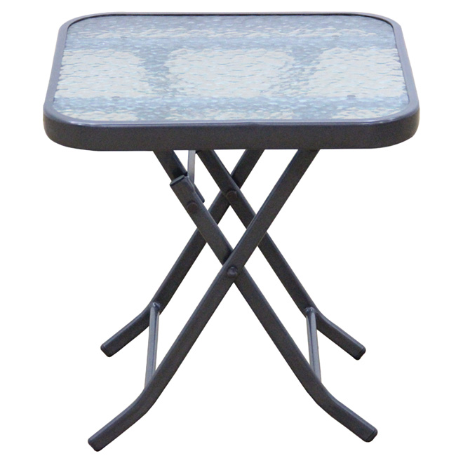 "Table d'appoint carrée pour patio, pliante, 18"" x 18"""