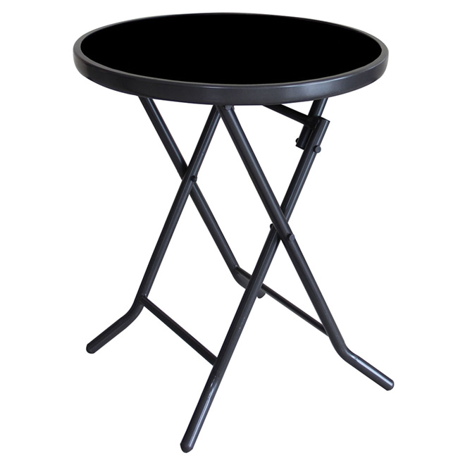 Uberhaus Patio Side Table Round Folding 19 S Dnt668pst Rona