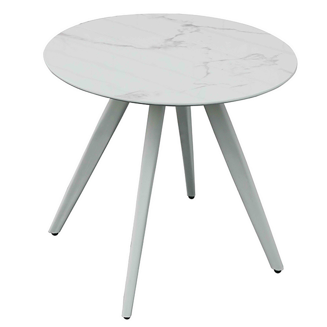 "Table de patio ronde, fini marbre, 29"" x 31"""