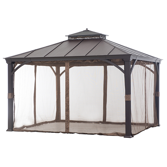 Allen + Roth Netting for Sun Shelter - 10-ft x 12-ft - Fabric - Brown