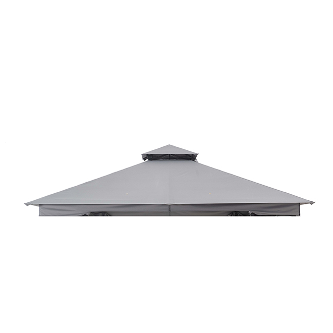 Style Selections Sun Shelter Replacement Roof - 10-ft x 10-ft - Polyester - Grey
