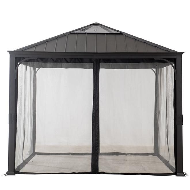 Moustiquaire pour abri-soleil, 10' x 10', tissu, noir