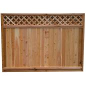 Fence with Solid Lattice Top