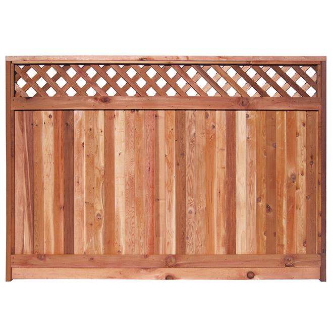 Panneau de clôture 5\'6 x 8 pi, cèdre rouge | RONA