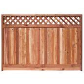 Panneau de clôture 5'6 x 8 pi, cèdre rouge