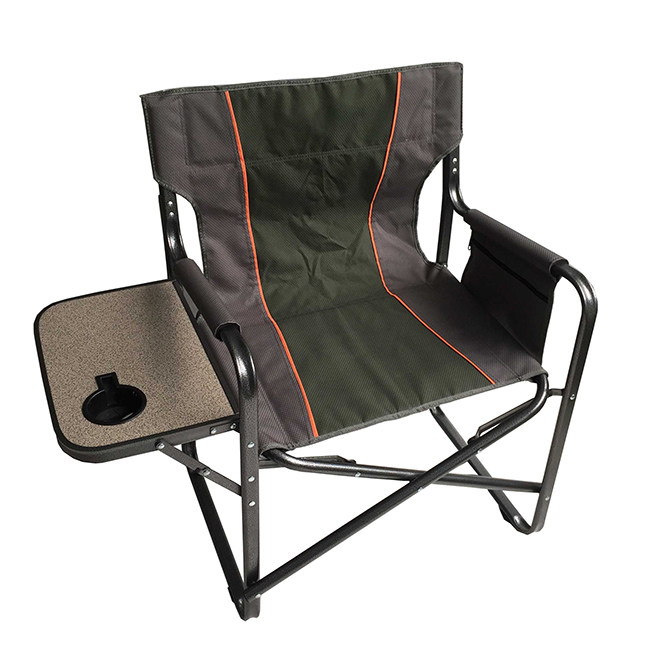 Camping Director Chair - Green/Grey
