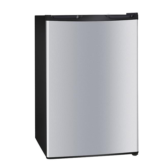 Réfrigérateur compact, 4,4 pi³, acier inoxydable