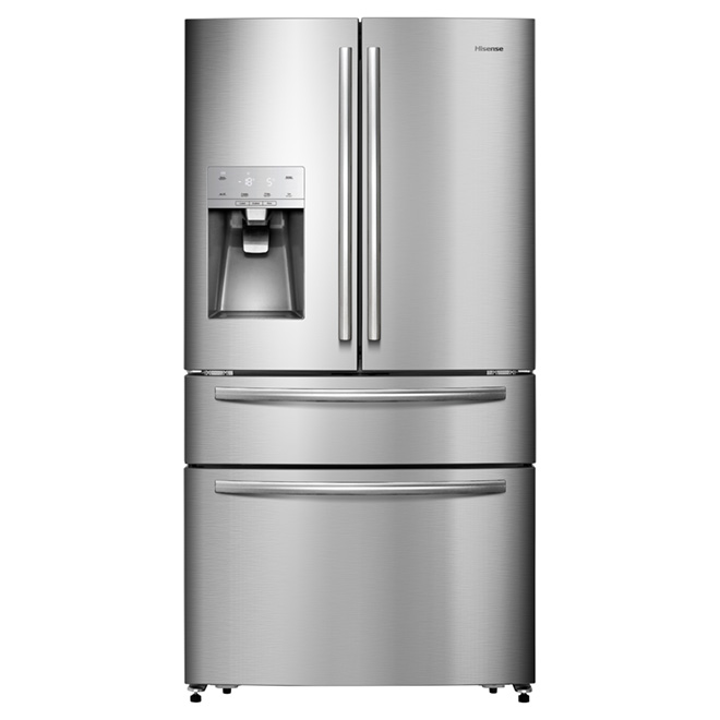 Refrigerator with Fridge/Freezer Drawer - 21. cu. ft - Steel