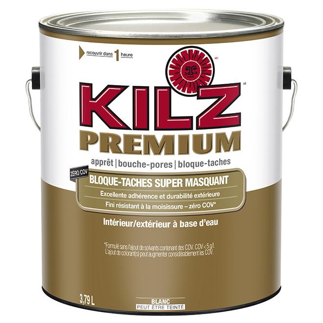 Apprêt-scellant-bouche-pores Kilz Premium, intérieur/extérieur, à base d'eau, blanc, 3,79 L