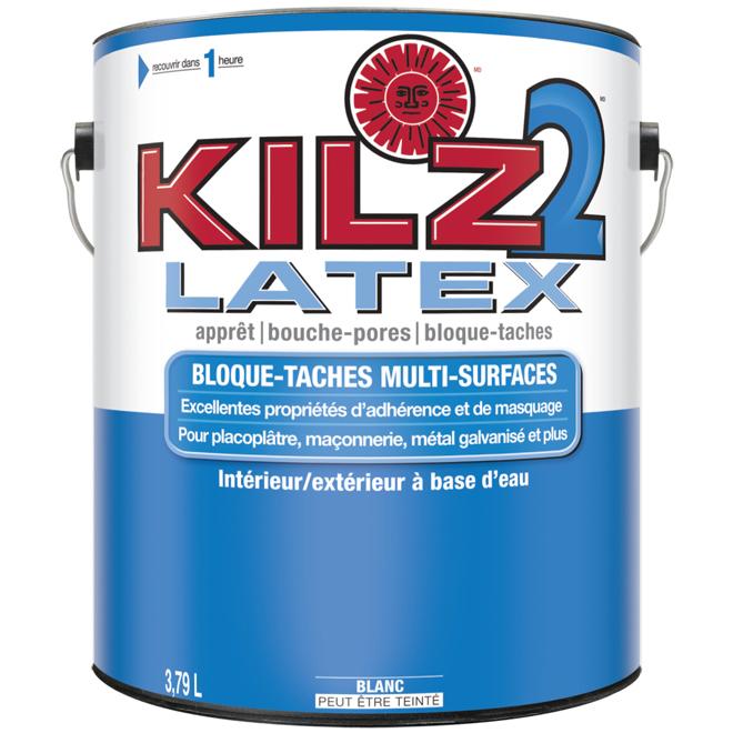Apprêt-scellant-bouche-pores Kilz 2 Latex, multisurfaces, intérieures/extérieures, à base d'eau, blanc, 3,79 L
