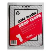 Clear Plastic Drop Cloth - 10' x 20'