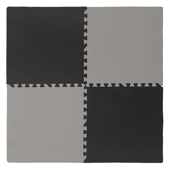 Mat - ''Anti-Fatigue'' - 24'' x 24'' - Grey - Black