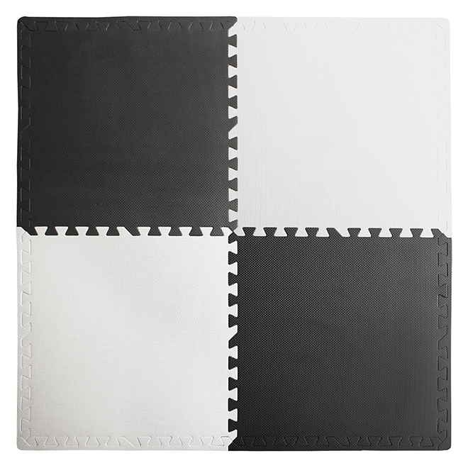 Mat - Anti-Fatigue - 24'' x 24'' - White and Black