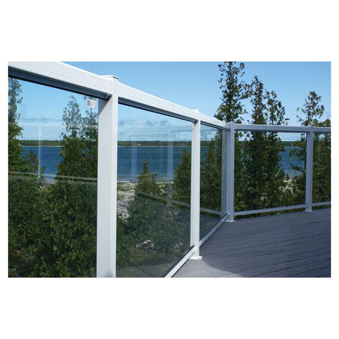 "Tempered Glass Railing Panel - 66"""