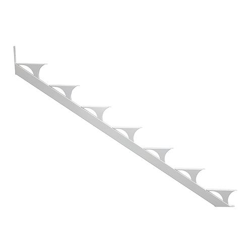 5-Step Stringer - Aluminum - White - 2/PK