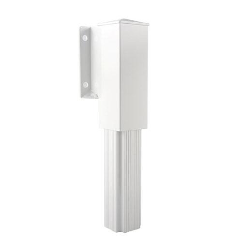 Sidemount Railing Bracket - White