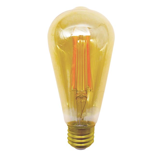 LED Bulb - ST19-E26 - 4-pack - Amber