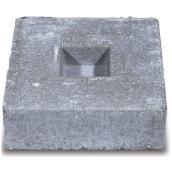 Bloc d'ancrage pour pation en béton Barkman Concrete, 12 po x 12 po x 4 po, gris