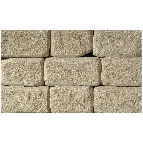 Pierre pour mur « StackStone » 4 po x 8 po, romain, désert
