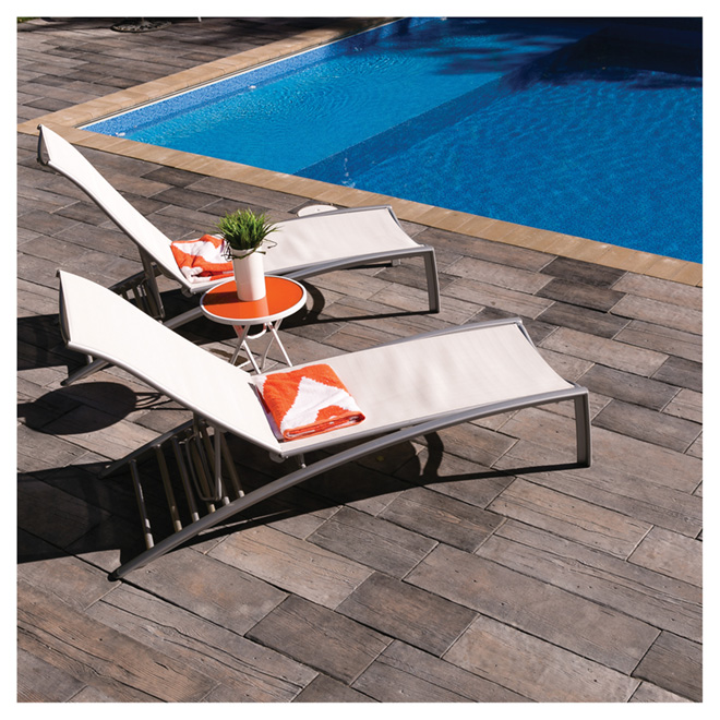 Patio Slab - 9.8 x 17.3'' - Cedar Brown