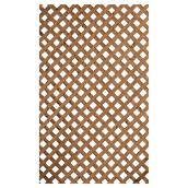 Treillis intimité en bois traité, brun, 4' x 8'