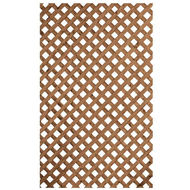 Suntrellis Privacy Lattice Treated Wood 1 X 8 Brown